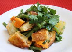 Potato Salad With Green Beans and Bruschetta Bread