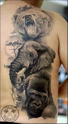 Dragon and Hedgehog by Oleg Turyanskiy: TattooNOW :