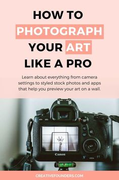 How to photograph your artwork like a pro. #art #sellart #artbiz #photographytips #photography