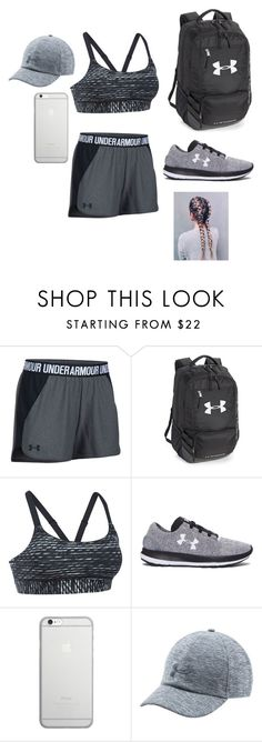 """""""Going on a run! In all Under Armour!"""" by bracie-jaycie-brady on Polyvore featuring Under Armour, Native Union and UnderArmour"""