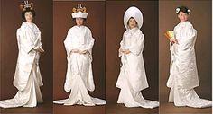 Shilomuku and hair styling. shilomuku: Japanese wedding white kimono