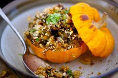 Lentil-stuffed mini pumpkins
