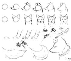 Pictures of simple wolf drawing tutorial - Wolf Drawing Easy, Fox Drawing, Furry Drawing, Drawing Base, Wolf Sketch Easy, Drawing Tips, Pencil Art Drawings, Art Drawings Sketches, Cartoon Drawings