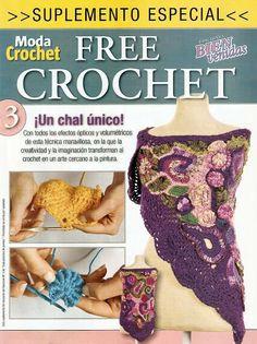 Free Crochet chale Dl