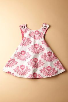 Right Bank Babies-Reversible Floral Wallpaper Smock Dress  55% OFF  Was: $62.50  NOW: $28.00  #baby #kid #deals #sale