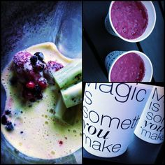 Juice og smoothie kombi - hvis du kan lide syrlighed, vil du elske denne :-) Opskrift på denne morgens juice/smoothie + en masse anden inspiration på min blog juiceuniverset.dk.