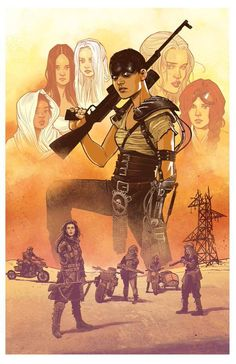Mad Max: Fury Road art by Cameron Stewart Mad Max Fury Road, Live Action, Imperator Furiosa, Photo Repair, The Road Warriors, Movie Poster Art, Post Apocalypse, Cultura Pop, Comic Covers