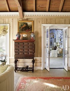 Boca Grande, Florida- home of Nancy Morton of Ginger Lily, a Boca Grande interior design firm. Published AD November The living room's pecky-cypress paneling was lightened by decorative painter Bob Christian Florida Villas, Florida Home, Florida Style, Florida Living, Porches, Country Interior, Beach House Decor, Home Decor, Beach Houses