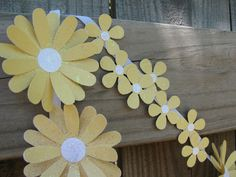 Mellow Yellow Paper Daisy Chain by theartofhandmades on Etsy