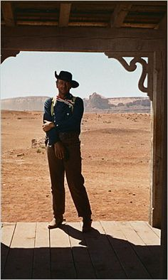 What some consider the best western ever made, John Ford's The Searchers.  In this scene John Wayne offers a tribute to one of his mentors, Harry Carey Sr.