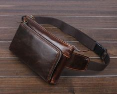 Men Genuine Leather Vintage Sling Chet Cell Phone Hip Belt Fanny Pack Waist Bag | eBay