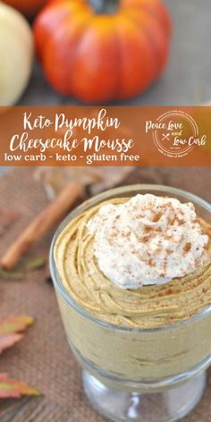 All the delicious flavors of fall in one low carb keto pumpkin cheesecake mousse. Eating a keto lifestyle does not mean that you have to skimp on flavor. Keto Desserts, Dessert Recipes, Dinner Recipes, Holiday Desserts, Paleo Dessert, Keto Snacks, Dessert Ideas, Lunch Recipes, Easy Desserts