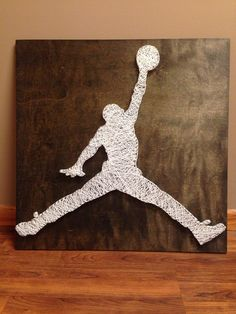 Hey, I found this really awesome Etsy listing at https://www.etsy.com/listing/176772163/jumpman-string-art