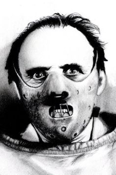 Hannibal is a creepy son of a bitch and i think that comes across well. Hannibal Lecter, M. Hannibal Lecter, Dr Hannibal, Classic Horror Movies, Iconic Movies, Sir Anthony Hopkins, Horror Themes, Scary Art, Badass Tattoos, Classic Monsters
