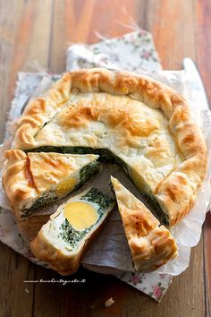 Ricotta, Italian Recipes, Vegan Recipes, Quiche, Torta Recipe, No Salt Recipes, Spinach Recipes, Antipasto, Christmas Baking