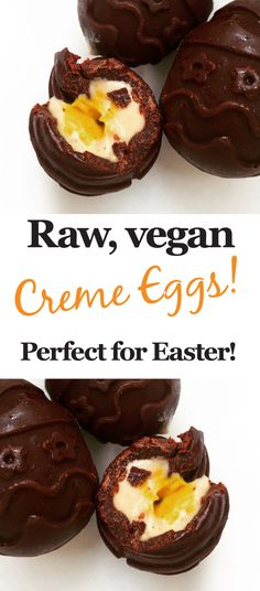 These spectacular paleo creme eggs are pure clean eating fun! These little treats by @Stoneagegreens are vegan, raw, gluten-free, grain-free, and free from unrefined sugars! Oh and did we forget to mention that with a little substitution, it's easy to make them nut-free too for any allergy sufferers out there.