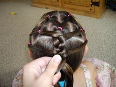 Elastic (Divided Ponies to One Braid) Hairstyle