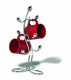 Spectrum Diversified 85770CAT Italio Mug Tree Cabinet by Spectrum. $24.99. Made of durable metal. Chrome. Italio Mug Holder. Stores up to six mugs or tea cups. Finish/Color Options:Chrome This mug holder offers a sleek and fun way to add style to your kitchen. This mug tree is a functional and decorative way to display your favorite coffee cups right next to the coffee pot. This cup holder looks great on the countertop and can display tea cups or coffee mugs. Features st...