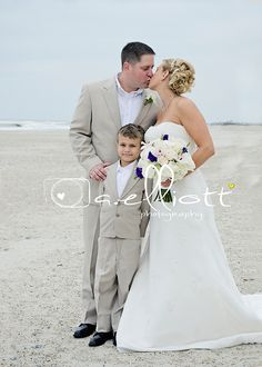beach family wedding