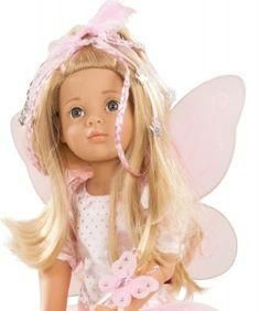 Happy Kidz Marie Fairy is a 50cm Jointed doll in a pretty fairy dress with accessories. Goetz Happy Kidz dolls are numbered so collectable. #toys2learn#gotz#doll#50cm#blonde#hair#long#fairy#australia#