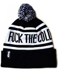 """Fuck The Cold"" Beanie (black) #InkedSHop #winter #hat #cold #funny #humor #winterwear"