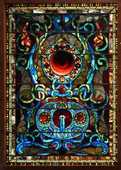 7556 Antique Stained Glass of Jewels Circles Attr John Lafarge | eBay