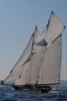 Elena Schooner de 1911 - 55m - 1000m2 de voiles