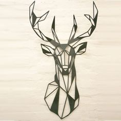 Beautifully made metal stag head by local company Crib Creations