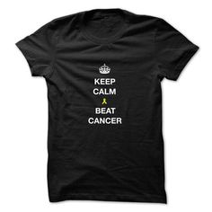 Keep calm and beat cancer - #shirt hair #crochet sweater. WANT THIS => https://www.sunfrog.com/LifeStyle/Keep-calm-and-beat-cancer.html?68278