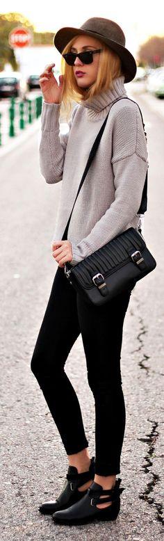 Blush Loose Knit Turtleneck by Dear Diary
