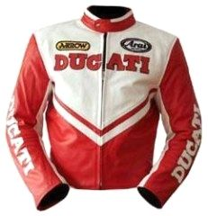 Ducati 80 S Style Leather Jacket In Red Made By Dainese
