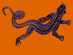 Mexican Art Iguana alebrije  https://www.etsy.com/shop/Kalakita?ref=hdr_shop_menu