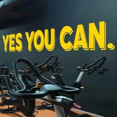 Yes You Can, Cycling Studio Decor, Home Cycling, Cycling Studio, Home Gym, Gym Design Ideas, Gym Wall Decal, Wall Decor, Decal, Sticker, Gift Giraffe Decor, Bear Decor, Classroom Walls, Classroom Decor, Wall Stickers, Wall Decals, Gym Design, Design Ideas, Gym Decor