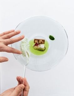 A plate of Kevin Fehling:  oyster and eel with rice jelly and rice cake,... Kevin Fehling is on the list of the 15 most influential chefs of the next decade.