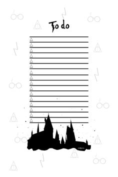 To Do List Imprimable Hogwarts !  #todolist #todo #harrypotter #hogwarts #poudlard #printable #imprimable #harrypotterworld #potterhead #freebies #mailyseven #illustration #graphisme