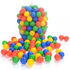 Balles Colorées Plastique de Piscine Enfants et Bébé - 100 Pièces