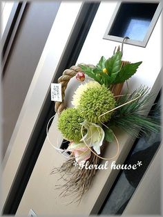 Floral houseオリジナル お正月飾りアーティフィシャルフラワー(造花)でお正月飾りを作りました。毎年恒例の人気作品ですアリウムをメインにして個性的...|ハンドメイド、手作り、手仕事品の通販・販売・購入ならCreema。
