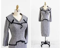 Fabulous vintage late 1950s or early 1960s dress.    ✧ by Mam'selle by Betty Carol --
