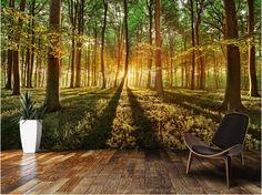 Barato Personalizado paisagem papel de parede, Primavera floresta, 3D foto mural…