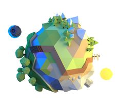 Little planet by Alex Pushilin, via Behance