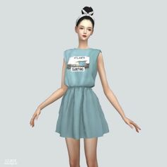 Ss Sleeveless Dress by Marigold for The Sims 4