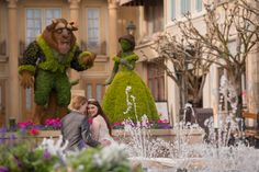 A tale as old as time at the beautiful France Pavilion in Disney's Epcot. Photo: Stephanie, Disney Fine Art Photography