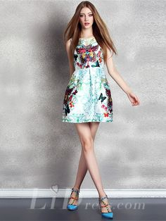 Butterfly Print Mini Dress