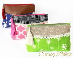 DIY Makeup Purse Pattern Clutch Pattern Sewing Pattern PDF