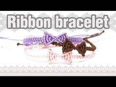 [305DIY]마크라메 리본 매듭팔찌만들기, macrame ribbon knot bracelets DIY tutorial - YouTube