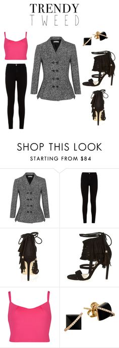"""Trendy Tweed"" by lifeaccordingtojamie on Polyvore featuring Michael Kors, 7 For All Mankind, River Island, Ted Baker, Madyha Farooqui, women's clothing, women, female, woman and misses"