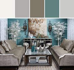 Calming Living Room Colors - Best House Design and Interior . Coastal Living Rooms, Chic Living Room, Living Room Furniture, Living Room Decor, Furniture Layout, Furniture Placement, Furniture Ideas, Interior Exterior, Interior Design