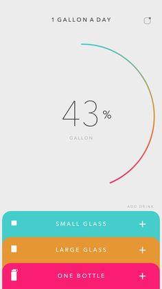 """Count"" on 1 Gallon a Day app – Bankgeschäfte Web Design, App Ui Design, User Interface Design, Flat Design, Game Design, Card Ui, App Design Inspiration, Mobile Ui Design, Mobile App Ui"