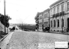 (Avenida Brigadeiro Luís Antônio com a Rua Riachuelo, por volta de 1900Foto: Acervo Fundação Energia e Saneamento)