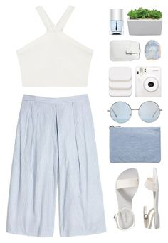 """Culotte"" by via-m ❤ liked on Polyvore featuring Madewell, BCBGMAXAZRIA, Miss Selfridge, Mossimo, Fuji, COVERGIRL, Nails Inc. and Old Navy"